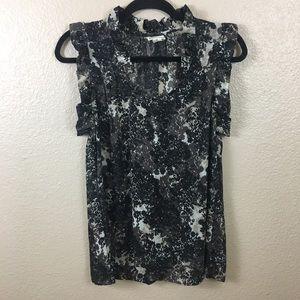 Converse One Star floral blouse sz M